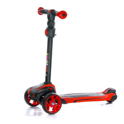 Трёхколёсный самокат с сиденьем и светящимися колёсами Scooter Micar Moby 3 в 1 Красный, для детей от 1 до 8 лет - 9