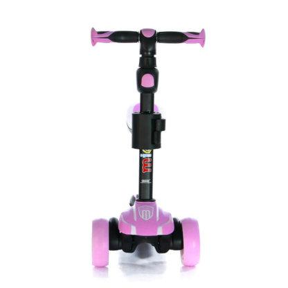 Трёхколёсный самокат с сиденьем и светящимися колёсами Scooter Micar Moby 3 в 1 Розовый, для детей от 1 до 8 лет - 10