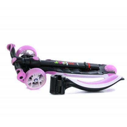 Трёхколёсный самокат с сиденьем и светящимися колёсами Scooter Micar Moby 3 в 1 Розовый, для детей от 1 до 8 лет - 5