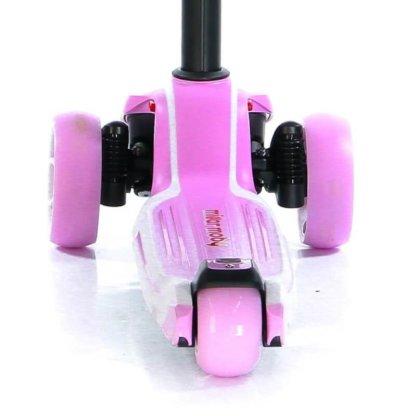 Трёхколёсный самокат с сиденьем и светящимися колёсами Scooter Micar Moby 3 в 1 Розовый, для детей от 1 до 8 лет - 7