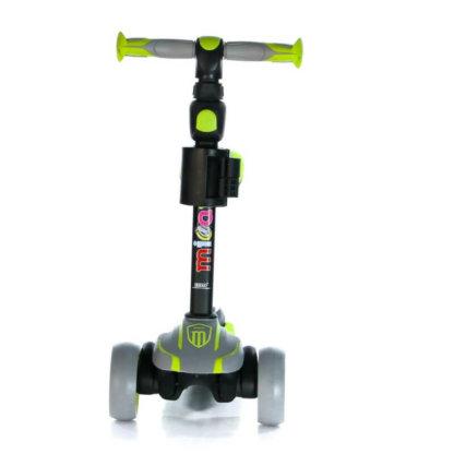 Трёхколёсный самокат с сиденьем и светящимися колёсами Scooter Micar Moby 3 в 1 Серо-зелёный, для детей от 1 до 8 лет - 12