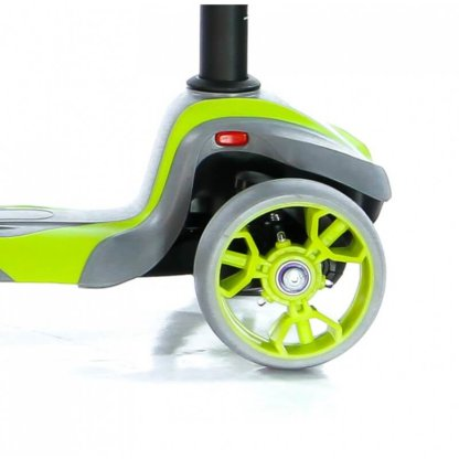 Трёхколёсный самокат с сиденьем и светящимися колёсами Scooter Micar Moby 3 в 1 Серо-зелёный, для детей от 1 до 8 лет - 5