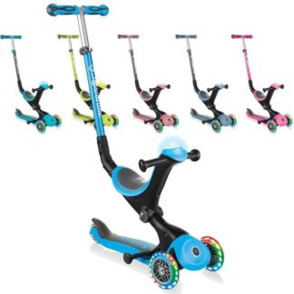 Globber GO UP Deluxe Play Lights детский трёхколёсный самокат-беговел