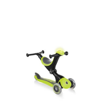 Globber GO UP Deluxe Play Lights Лайм детский трёхколёсный самокат-беговел - 3
