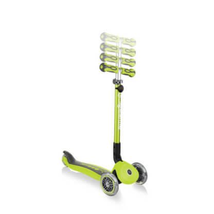 Globber GO UP Deluxe Play Lights Лайм детский трёхколёсный самокат-беговел - 4