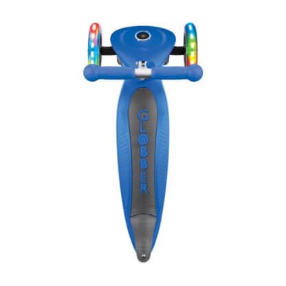 Трехколесный самокат со складной ручкой и светящимися колёсами Globber Primo Foldable Lights синий - 4