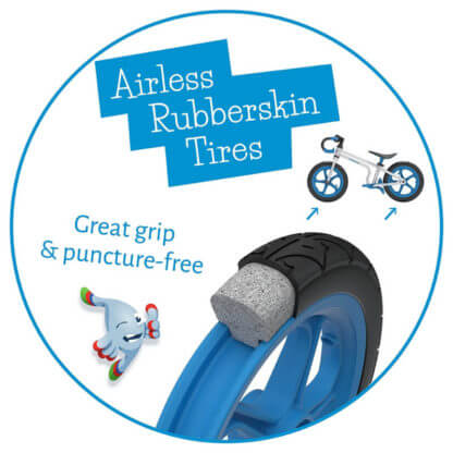 Беговел с ножным тормозом Chillafish Fixie - бескамерные колёса Rubberskin