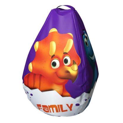 Мешок-рюкзак-подушка, спинка для тюбингов ST4, Small Rider Bags Динозаврики Фиолетовый - 2