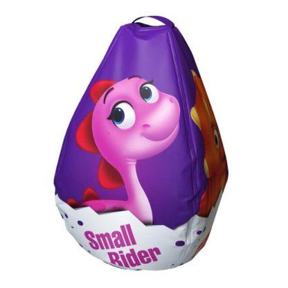 Мешок-рюкзак-подушка, спинка для тюбингов ST4, Small Rider Bags Динозаврики Фиолетовый - 4