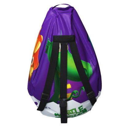 Мешок-рюкзак-подушка, спинка для тюбингов ST4, Small Rider Bags Динозаврики Фиолетовый - 5