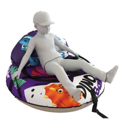Мешок-рюкзак-подушка, спинка для тюбингов ST4, Small Rider Bags Динозаврики Фиолетовый - 6