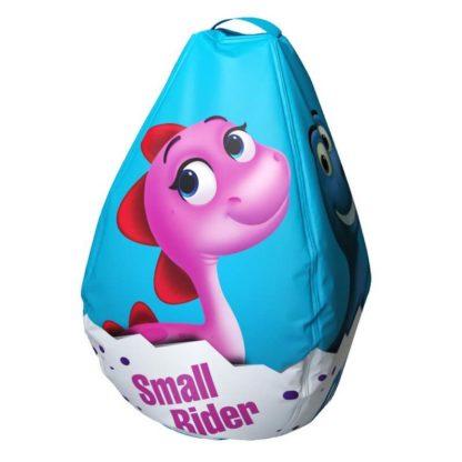 Мешок-рюкзак-подушка, спинка для тюбингов ST4, Small Rider Bags Динозаврики Голубой - 4