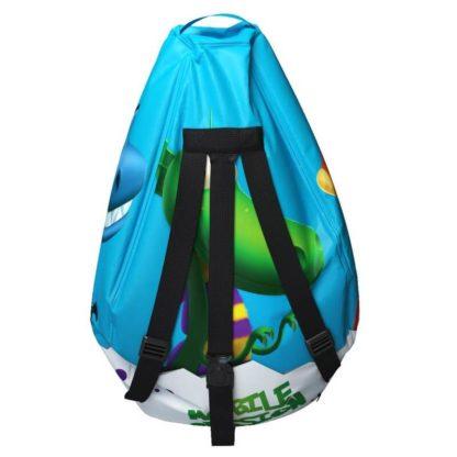 Мешок-рюкзак-подушка, спинка для тюбингов ST4, Small Rider Bags Динозаврики Голубой - 5