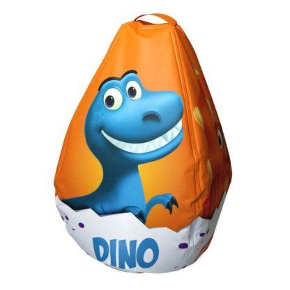 Мешок-рюкзак-подушка, спинка для тюбингов ST4, Small Rider Bags Динозаврики Оранжевый - 1