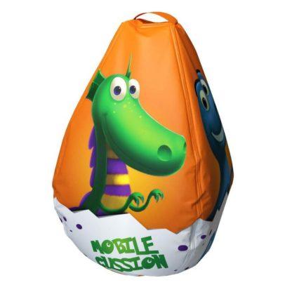 Мешок-рюкзак-подушка, спинка для тюбингов ST4, Small Rider Bags Динозаврики Оранжевый - 3