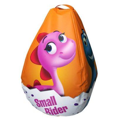 Мешок-рюкзак-подушка, спинка для тюбингов ST4, Small Rider Bags Динозаврики Оранжевый - 4
