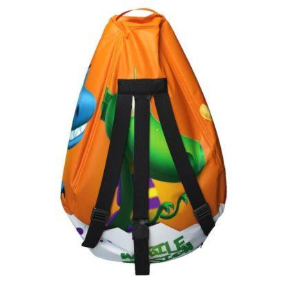 Мешок-рюкзак-подушка, спинка для тюбингов ST4, Small Rider Bags Динозаврики Оранжевый - 5