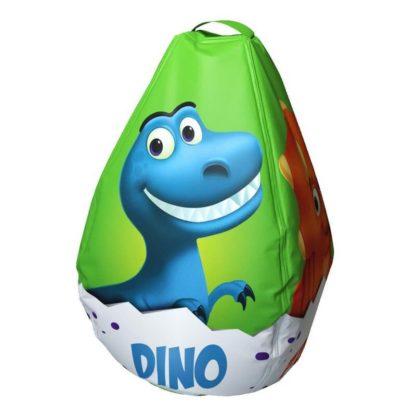 Мешок-рюкзак-подушка, спинка для тюбингов ST4, Small Rider Bags Динозаврики Зелёный - 1