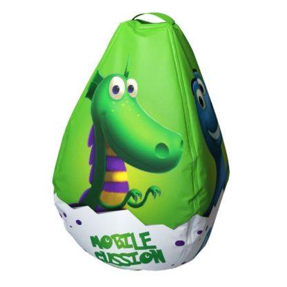 Мешок-рюкзак-подушка, спинка для тюбингов ST4, Small Rider Bags Динозаврики Зелёный - 3
