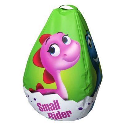 Мешок-рюкзак-подушка, спинка для тюбингов ST4, Small Rider Bags Динозаврики Зелёный - 4