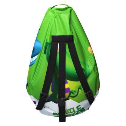 Мешок-рюкзак-подушка, спинка для тюбингов ST4, Small Rider Bags Динозаврики Зелёный - 5