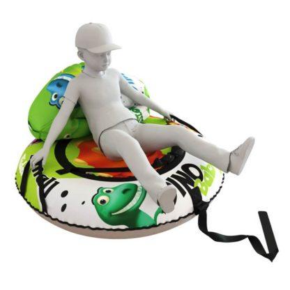 Мешок-рюкзак-подушка, спинка для тюбингов ST4, Small Rider Bags Динозаврики Зелёный - 6