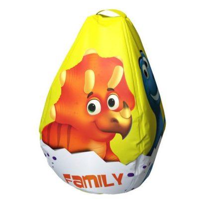 Мешок-рюкзак-подушка, спинка для тюбингов ST4, Small Rider Bags Динозаврики Жёлтый - 2