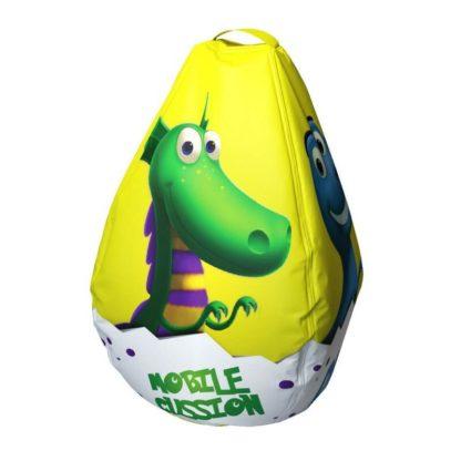 Мешок-рюкзак-подушка, спинка для тюбингов ST4, Small Rider Bags Динозаврики Жёлтый - 3