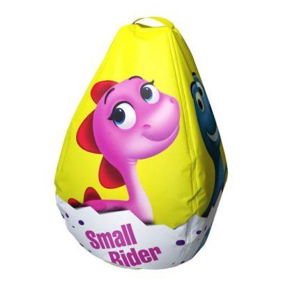 Мешок-рюкзак-подушка, спинка для тюбингов ST4, Small Rider Bags Динозаврики Жёлтый - 4