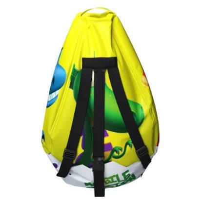 Мешок-рюкзак-подушка, спинка для тюбингов ST4, Small Rider Bags Динозаврики Жёлтый - 5