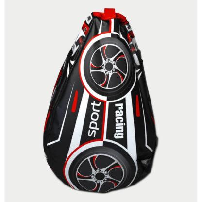 Мешок-рюкзак-подушка, спинка для тюбингов ST4, Small Rider Bags Машинки Красный - 2