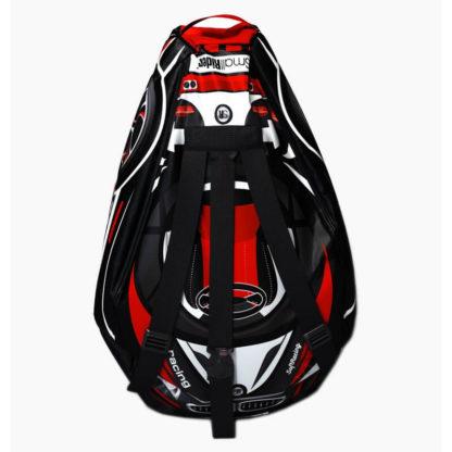 Мешок-рюкзак-подушка, спинка для тюбингов ST4, Small Rider Bags Машинки Красный - 3