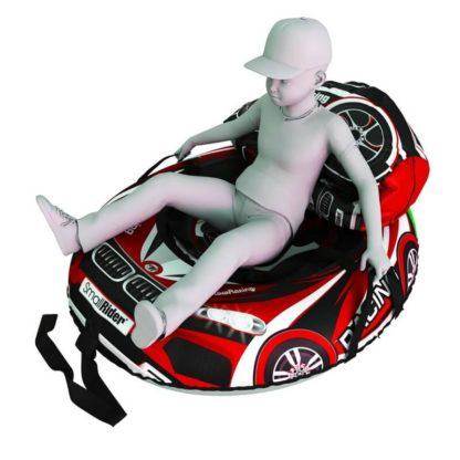 Мешок-рюкзак-подушка, спинка для тюбингов ST4, Small Rider Bags Машинки Красный - 4