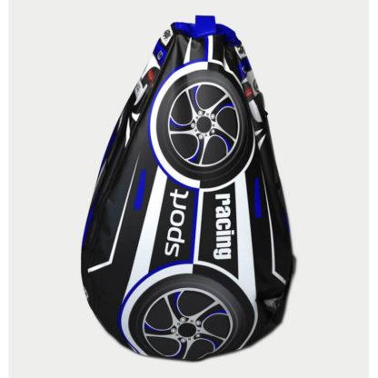 Мешок-рюкзак-подушка, спинка для тюбингов ST4, Small Rider Bags Машинки Синий - 2