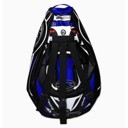 Мешок-рюкзак-подушка, спинка для тюбингов ST4, Small Rider Bags Машинки Синий - 3