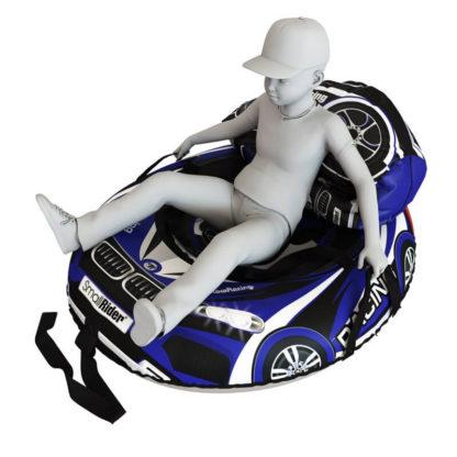 Мешок-рюкзак-подушка, спинка для тюбингов ST4, Small Rider Bags Машинки Синий - 4