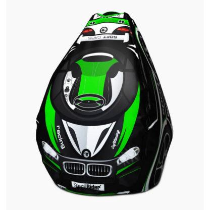 Мешок-рюкзак-подушка, спинка для тюбингов ST4, Small Rider Bags Машинки Зелёный - 1