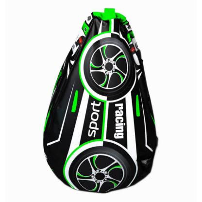 Мешок-рюкзак-подушка, спинка для тюбингов ST4, Small Rider Bags Машинки Зелёный - 2