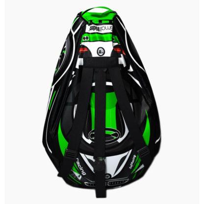 Мешок-рюкзак-подушка, спинка для тюбингов ST4, Small Rider Bags Машинки Зелёный - 3