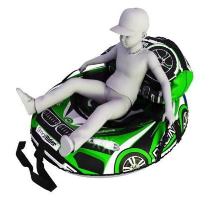 Мешок-рюкзак-подушка, спинка для тюбингов ST4, Small Rider Bags Машинки Зелёный - 4