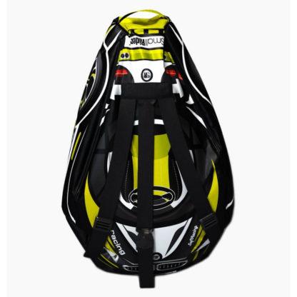 Мешок-рюкзак-подушка, спинка для тюбингов ST4, Small Rider Bags Машинки Жёлтый - 3