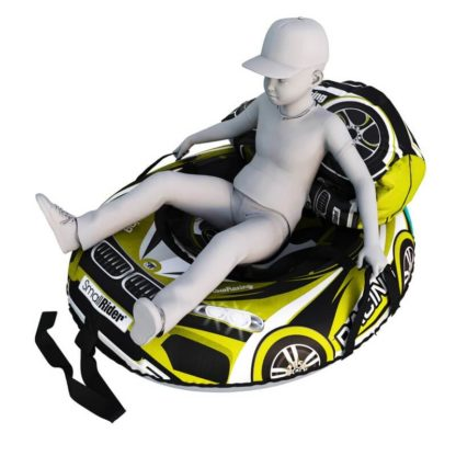 Мешок-рюкзак-подушка, спинка для тюбингов ST4, Small Rider Bags Машинки Жёлтый - 4