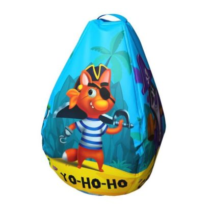 Мешок-рюкзак-подушка, спинка для тюбингов ST4, Small Rider Bags Пираты Голубой - 1
