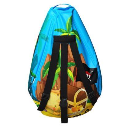 Мешок-рюкзак-подушка, спинка для тюбингов ST4, Small Rider Bags Пираты Голубой - 4