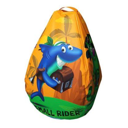 Мешок-рюкзак-подушка, спинка для тюбингов ST4, Small Rider Bags Пираты Оранжевый - 1