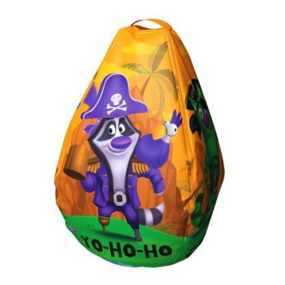 Мешок-рюкзак-подушка, спинка для тюбингов ST4, Small Rider Bags Пираты Оранжевый - 2