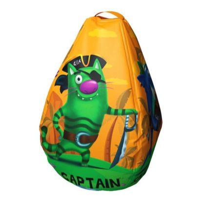 Мешок-рюкзак-подушка, спинка для тюбингов ST4, Small Rider Bags Пираты Оранжевый - 3