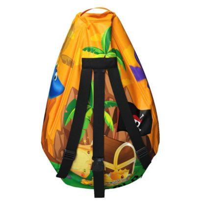 Мешок-рюкзак-подушка, спинка для тюбингов ST4, Small Rider Bags Пираты Оранжевый - 5