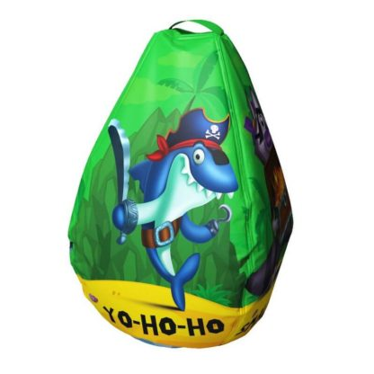 Мешок-рюкзак-подушка, спинка для тюбингов ST4, Small Rider Bags Пираты Зелёный - 1