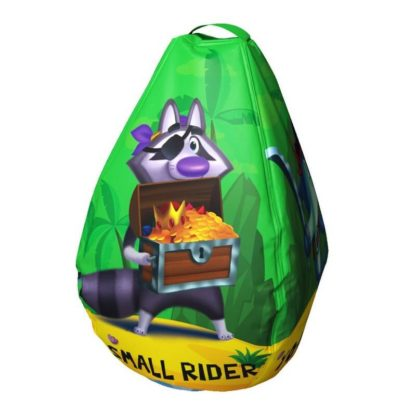 Мешок-рюкзак-подушка, спинка для тюбингов ST4, Small Rider Bags Пираты Зелёный - 3